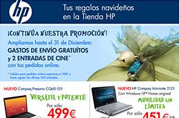 Tienda HP - Se amplía la promoción de 2 entradas de cine y gastos de envío gratuítos en cada pedido online superior a 100€