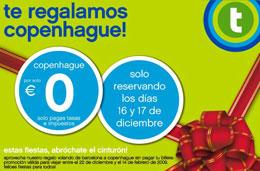 Transavia - Vuelos a Copenhague por 0€ (pagando sólo tasas e impuestos) reservando los días 16 y 17 Diciembre/2008