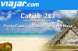 Viajar.com - 2x1 en viajes a Caribe (Punta Cana, Cuba y Riviera Maya), Canarias y Túnez para viajar en Enero y Febrero de 2009 codigo promocional oferta descuento