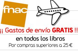 Gastos de envío gratis en libros para compras superiores a 25€ en Fnac