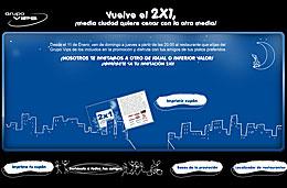 Grupo Vips - Cupón de descuento listo para imprimir para obtener un 2x1 en cenas de domingo a jueves en cualquier restaurante del grupo Vips