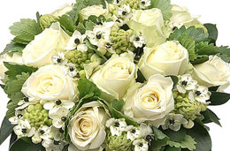 Aquarelle - Oferta de la semana: 12€ de descuento en el bouquet de rosas blancas, válido hasta 8-Febrero-2009