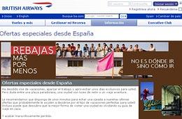 British Airways - Rebajas con precios y descuentos especiales en todos sus vuelos, válido hasta 15-Febrero-2008