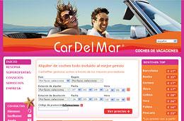 CarDelMar - Código promocional de 10% de descuento en todas las reserva de alquiler de coche, válido hasta 31-Diciembre-2009