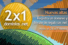 CDMon - Consigue un dominio .net por un año completamente gratis al registrar cualquier dominio, válido hasta 28-Febrero-2009