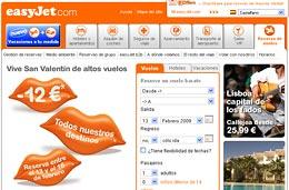 EasyJet - Código promocional 12€ de descuento para viajar en Marzo a cualquiera de sus destinos, válido hasta 16-Febrero-2009