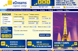eDreams - Vuelos a España y Europa desde 10€ y 2x1 en viajes de 7 noches a Túnez, Punta Cana, Riviera Maya y más, válido hasta 22-Febrero-2009