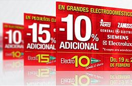 El Corte Inglés - Descuentos adicionales del 15% y del 10% en pequeños y grandes electrodomésticos respectivamente, válido hasta 26-Febrero-2009
