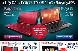 Tienda HP - Gastos de envío gratuítos en portátiles mini para San Valentín, rebajas de Enero y tarjeta rasca con premio seguro en cada compra superior a 100€