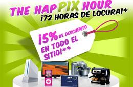 Codigos Promocionales Pixmania de 5% ó 25€ de descuento en la HapPix Hour prolongados, válido hasta 22/Diciembre/2008