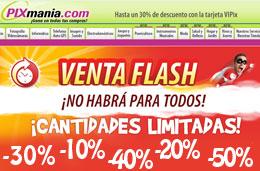 Pixmania - Ofertas y precios especiales con descuento en las \'Ventas Flash\' durante 72h