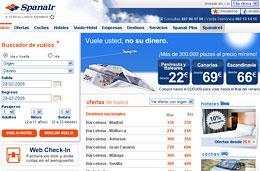 Spanair - Promoción \'Vuele usted, no su dinero\' con más de 300.000 plazas con precios desde los 22€ para volar hasta final de verano, válido hasta 2-Marzo-2009
