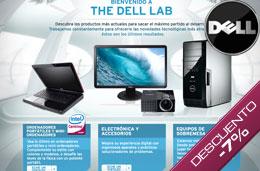 Código promocional Dell del 7% de descuento en todos los ordenadores portátiles y sobremesa Studio, Inpiron y XPS, para compras superiores a 599€ para particulares