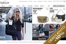 Codigo promocional Kipling del 10% de descuento en todas las compras de su web (bolsos, mochilas, carteras, accesorios, ...), hasta 17-Abril-2009