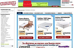 Codigos promocionales Venta-Única para tener 50€ y 100€ de descuento en la compra de colchones para compras superiores a 600€ y 1000€ respectivamente, válido hasta 6-Abril-2009