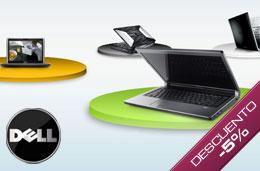 Codigo descuento Dell de un 5% de descuento adicional en las compras de portátiles y sobremesas Studio, Inpiron y XPS superiores a 549€ en su sección de particulares