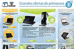 Dell - Últimos 3 días de ofertas y descuentos especiales Dell en su semana de \'grandes ofertas de primavera\', válido hasta 20-Marzo-2009