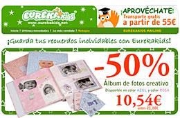 Eurekakids - Album de fotos \'creativo\' con un 50% de descuento por tiempo limitado, válido hasta 24-Marzo-2009