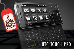 HTC Touch Pro libre, el teléfono móvil-pda-smartphone estrella de HTC con un 38% de descuento y 281€ de ahorro, el mejor precio