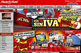 Media Markt - Lunes 2 de Marzo, día sin IVA. Descuento del 16% en todos sus productos