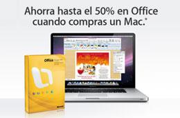 Nueva oferta Apple con descuentos de hasta el 50% en la suite de Office al comprar un Mac, válido hasta 31-Marzo-2009