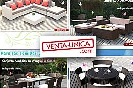 Venta-Única - Ofertas en sofás, muebles y decoración de jardín con precios y descuentos especiales