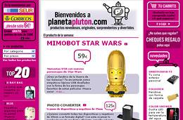 PlanetaPluton - Código promocional de gastos de envío gratis en todos los artículos, válido hasta 31-Marzo-2009