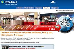 Ofertas de hoteles en Europa, USA y Asia con los 'Descuentos de locura' del portal de viajes Expedia