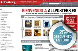 Codigos promocionales y codigos descuento en AllPosters