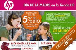 Código promocional HP del 5% de descuento en todos los productos con motivo del Día de la Madre y Gastos de envío gratuítos