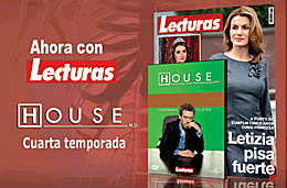 Cuarta temporada de la serie House completamente gratis con cada número de la revista Lecturas, válido hasta 6-Mayo-2009