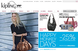Ofertas de bolsos con un 25% de descuento en una amplia selección durante los 'Happy Monkey Days' de Kipling
