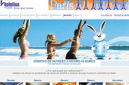 Ofertas de hoteles de hasta 4* por menos de 60€ en una selección de hoteles para España y Europa en Hotelius