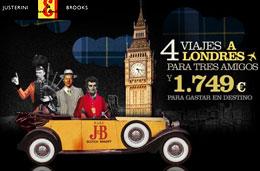 Promoción-Concurso J&B '1749' de 4 viajes a Londres para tres amigos y 1.749€ para gastar en destino