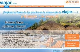 Chollos de ultima hora a Riviera Maya en hotel 5* (7 noches) Todo Incluído con la posibilidad de ¡elegir el precio que quieres pagar! en la promoción de la nueva web de Viajar.com