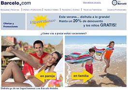 Descuento del 20% en hoteles y niños gratis en la promoción SuperSummer de Barceló Hoteles