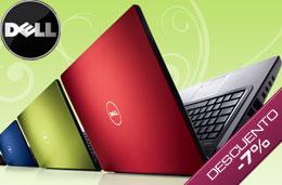 Código promocional Dell del 7% de descuento en todos los ordenadores portátiles y sobremesa Studio, Inpiron y XPS en compras superiores a 599€ para particulares