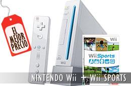 Mejor precio Consola Nintendo Wii con el pack Wii Sports