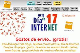 Ofertas Fnac con gastos de envio gratis durante el dia de internet