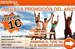 Hoteles en oferta desde 1 euro con Destinia