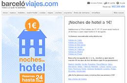 Hoteles en oferta desde 1 euro con Barcelo Viajes