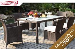 2c751810fea7 Ofertas muebles de jardin con un 70% de descuento en el conjunto Alanda en  las