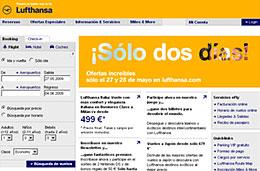 Vuelos en oferta con precios increíbles durante 2 días exclusivos en Lufthansa, válido hasta 28-Mayo-2009