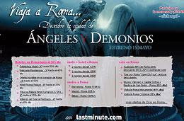 Gana un viaje a Roma con la promocionn de la película Angeles y Demonios en Last Minute
