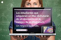 iPod Touch de regalo al comprar cualquier portátil Mac o iMac en la oferta especial para estudiantes y profesores de Apple, válido hasta 8-Septiembre-2009