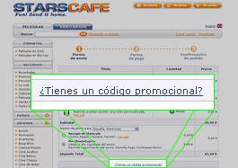 Código descuento StarsCafe.com