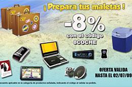 Código promocional Avenida del Comercio de un 8% en todos los artículos de su sección coche (audio, video, navegación, seguridad, ...), válido hasta 2-Julio-2009