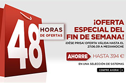 48 horas de ofertas especiales Dell para este fin de semana en sus ordednadores con descuentos de hasta 394€, válido hasta 27-Junio-2009