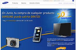 Promoción 20 aniversario de Samsung: Durante el mes Junio, tu compra puede salirte gratis o ganar un viaje de 7 noches a Paris, válido hasta 30-Junio-2009