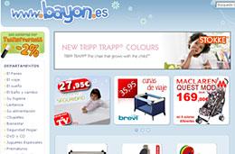 Descuentos de hasta el 50% en la sección outlet de la tienda para especializada en bebés Bayon.es